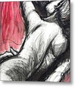 Lovers - The Kiss3 -rodin Metal Print
