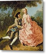 Lovers In A Landscape Metal Print