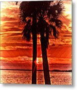 Loving Palms-the Journey Metal Print