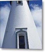 Low Angle View Of Lighthouse Metal Print