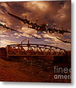 Low Flying Over Rawcliffe Bridge Metal Print by Nigel Hatton