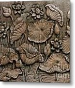 Low Relief Cement Thai Style  Metal Print