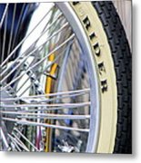 Low Rider And Silver Spokes Metal Print