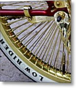 Low Rider In Maroon And Gold Metal Print