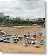 Low Tide At Tenby Metal Print