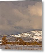 Low Winter Storm Clouds Colorado Rocky Mountain Foothills 2 Metal Print