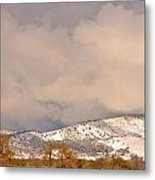 Low Winter Storm Clouds Colorado Rocky Mountain Foothills 4 Metal Print