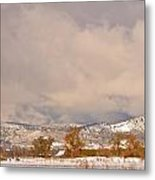 Low Winter Storm Clouds Colorado Rocky Mountain Foothills 5 Metal Print