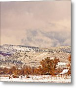 Low Winter Storm Clouds Colorado Rocky Mountain Foothills 6 Metal Print