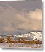 Low Winter Storm Clouds Colorado Rocky Mountain Foothills Metal Print