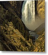 Lower Falls On The Yellowstone River Metal Print