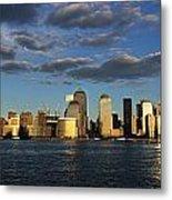 Lower Manhattan At Sunset, Viewed From Metal Print