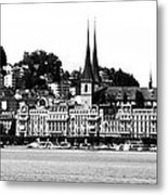 Lucerne In Monochrome Metal Print
