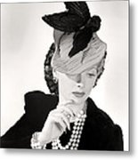 Lucille Ball Models A Unique Hat Metal Print by Everett