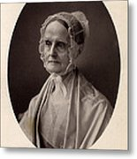 Lucretia Coffin Mott.  F. Gutekunst Metal Print by Everett