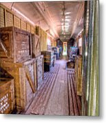Luggage Car Metal Print