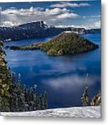Luminous Crater Lake Metal Print