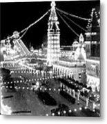 Luna Park - Coney Island - New York At Night - C 1903  Metal Print