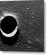 Lunar Crater, Apollo 17 Photograph Metal Print