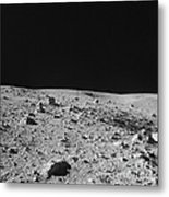 Lunar Surface Metal Print