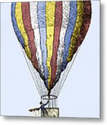 Lunardi's Balloon, 1784 Metal Print