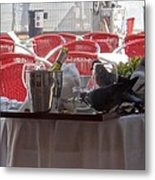Lunch At San Marco Metal Print