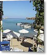 Lunch On The Mediterranean  Metal Print