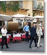 Lunch Time In Rome Metal Print