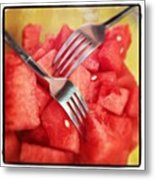 #lunch #watermelon With My #mommy <3 Metal Print