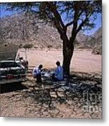 Lunchtime In The Desert Of Sinai Metal Print