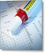 Lung Function Test Metal Print