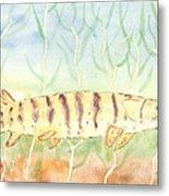 Lurking Tiger Metal Print