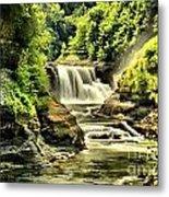 Lush Lower Falls Metal Print