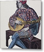 Lute Player, 1839 Metal Print