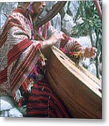 Lute Player Metal Print by Photo Researchers, Inc.