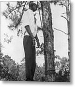 Lynched African American Man Hanging Metal Print