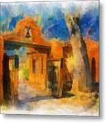 Mabel's Gate Watercolor Metal Print