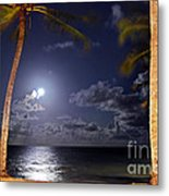 Maceio - Brazil - Ponta Verde Beach Under The Moonlit Metal Print