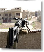 Machine Gun Post At A Prison Metal Print