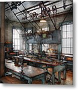 Machinist - Steampunk - The Contraption Room Metal Print