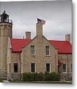 Mackinaw City Lighthouse Number 2446 Metal Print