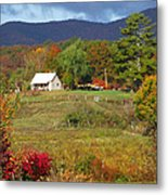 Mack's Farm In The Fall 2 Filtered Metal Print