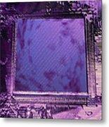 Macrophotograph Of An Intel Computer Microchip Metal Print