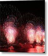 Macy's Fireworks On The Hudson Metal Print