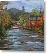 Mad River And Campton Bridge Metal Print
