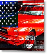 Made In The Usa . Ford Mustang Metal Print