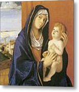 Madonna And Child Metal Print by Giovanni Bellini
