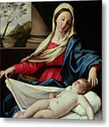 Madonna And Child  Metal Print by II Sassoferrato
