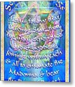Madonna Dove Chalice-synthesis And Logos With Text Metal Print
