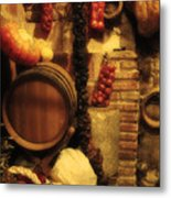 Madrid Food And Wine Still Life II Metal Print